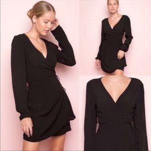 Brandy Melville long sleeve wrap dress